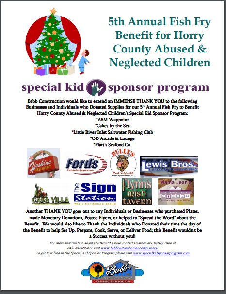 5th Annual Fish Fry Benefit